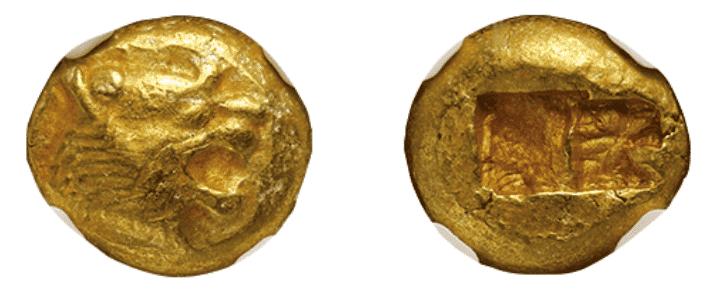 古代ギリシャ リディア 1/3エレクトラム貨
